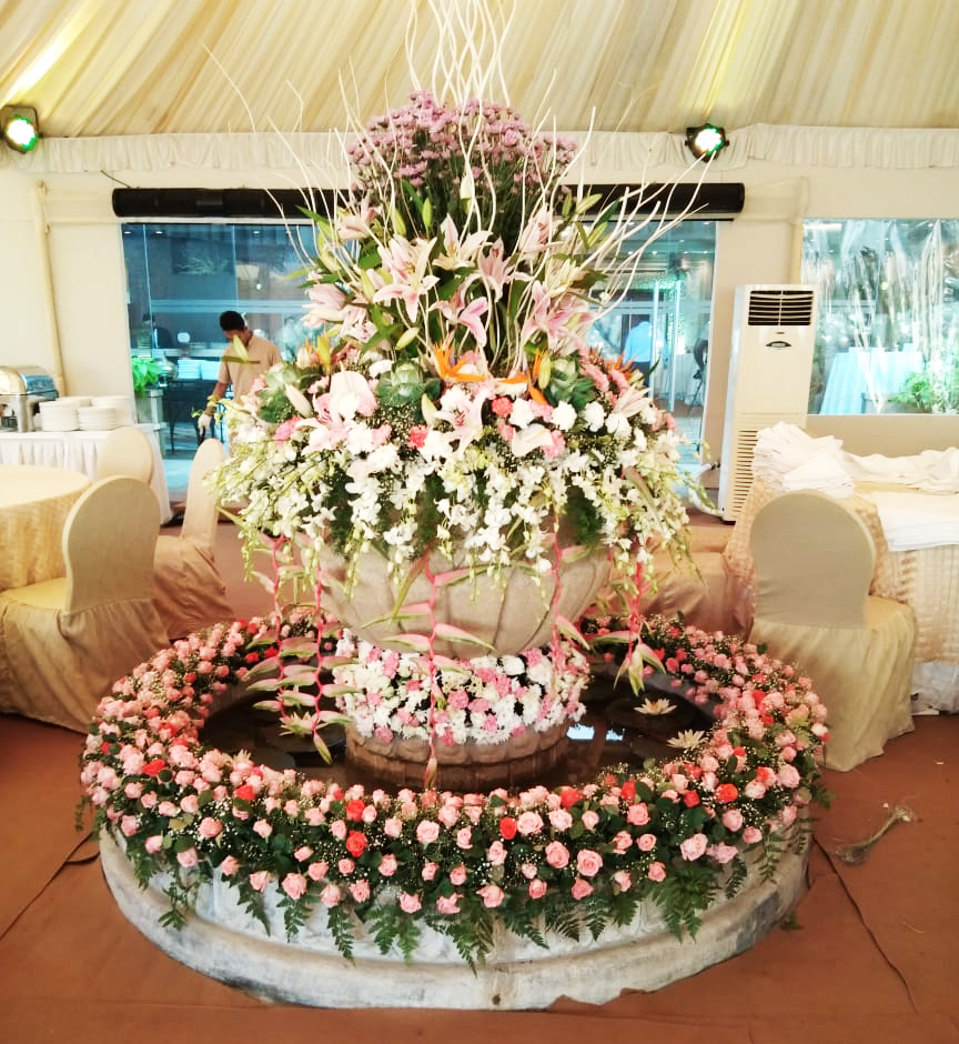 Flower Decoration for Wedding Stage,Hall & Backdrop in Chennai